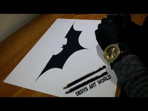 how to draw the dark knight rises symbol youtube