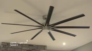 """Fanimation FPD8149 - Odyn 84"""" Ceiling Fan with LED Light Kit"""