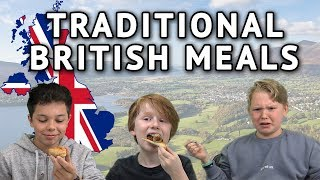German Kids try Traditional British Meals (Breakfast, Haggis, Scones)