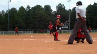 10U fastpitch pitcher takes a line drive at the 2010 NSA World Series Championship Game part 1