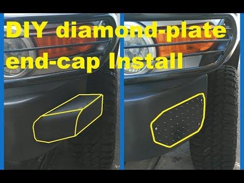 FJ Cruiser DIY Diamond-plate bumper end-cap