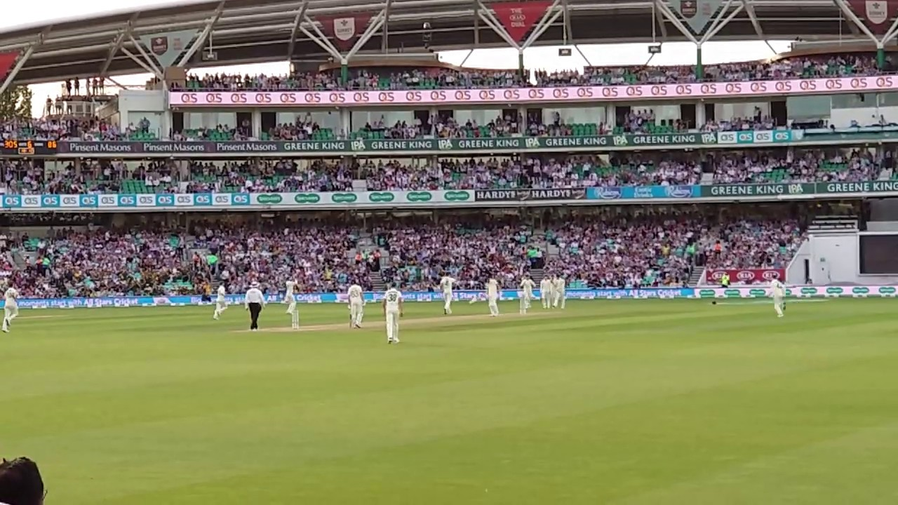 Steve Smith sensational catch at Oval Test 2019. My view from the stands.