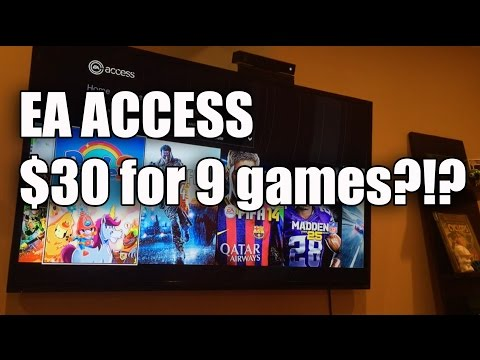 Xbox One EA Access Tons Of Games For $30