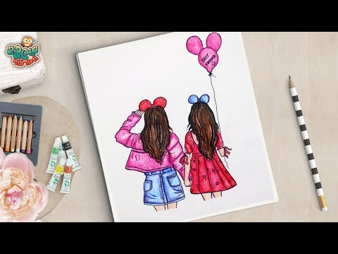 friendship-day-drawing-|-how-to-draw-best-friend