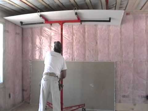 ceiling install drywall size by of shower large how door yourself hang hanging to ceilings a on