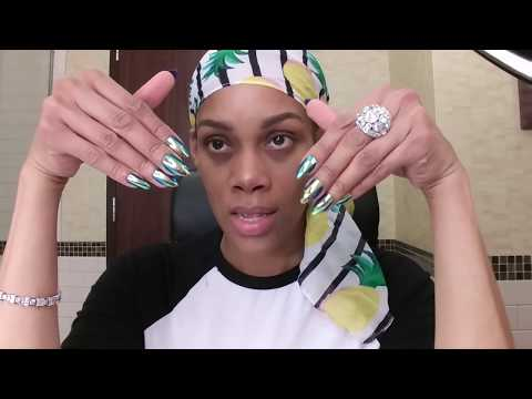How to metallic nails at home DIY