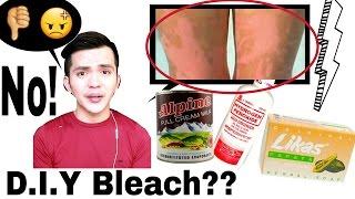 DIY SKIN BLEACHING for Instant PUTI Using Agua Oxinada?? NO!