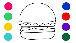 Coloring For Kids || Learn Coloring || Burger and Pizza Coloring