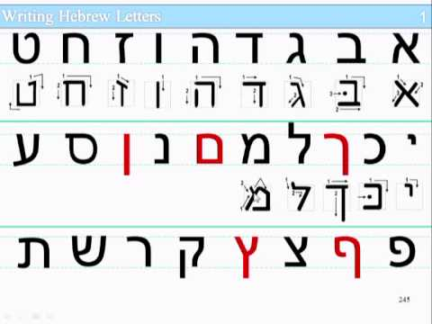 Lesson 1 Part 1 Slide 13 245 Writing Hebrew Letters Youtube