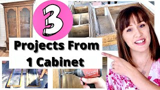 Upcycling An Old Dysfunctional Cabinet Into 3 New Useful Pieces