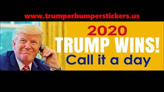Trump Bumper Stickers, Designed to Re-elect the President
