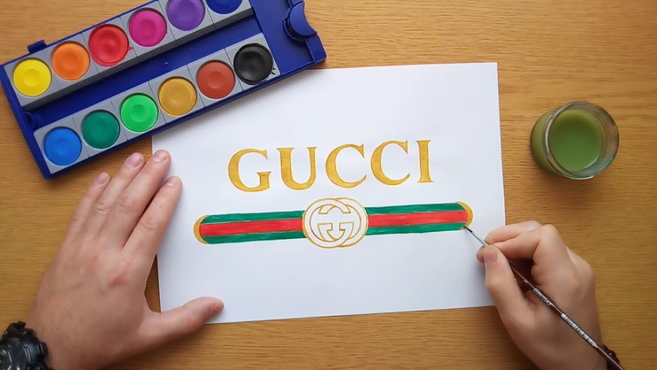 How To Draw Gucci Logo (DIY Gucci Logo) - YouTube
