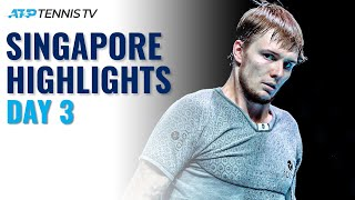 Bublik, Cilic In Action; Popyrin Faces Andreev | Singapore 2021 Day 3 Highlights