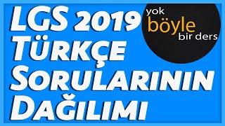 LGS 2019 Türkçe Sorularının Dağılımı