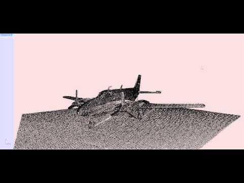 Lidar Scan to 3D Model of Airplane