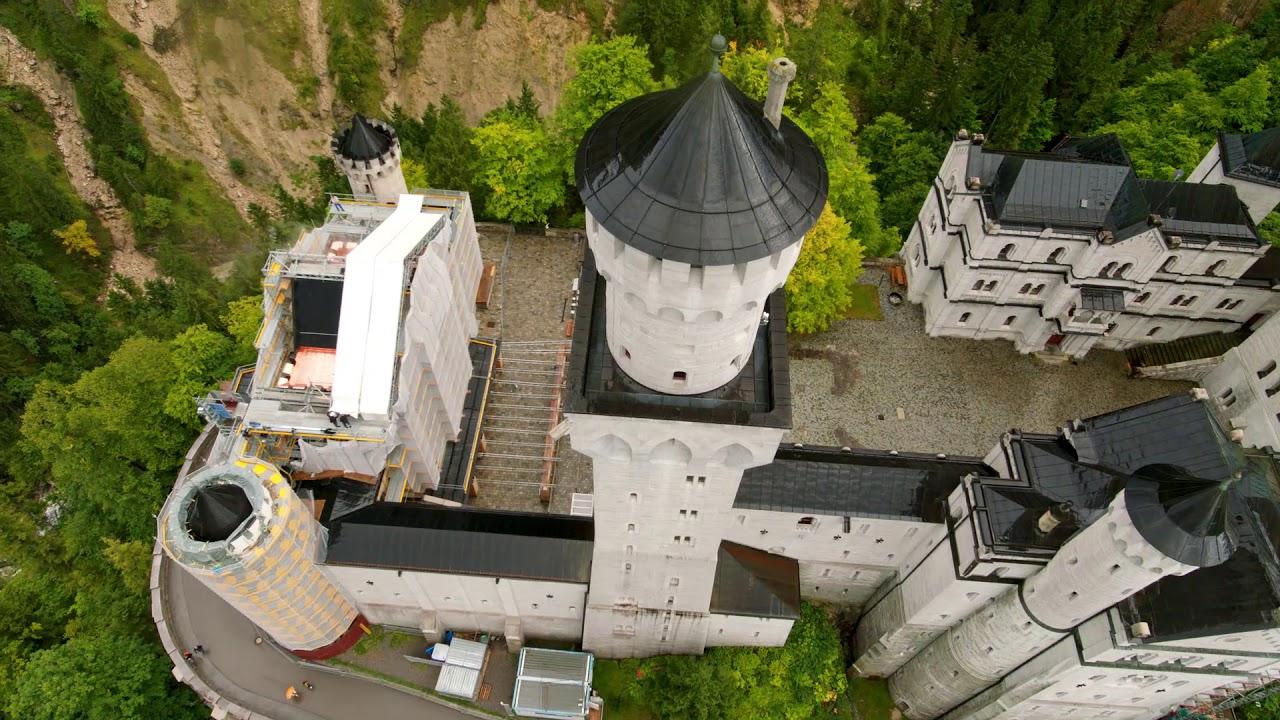 Schloss Neuschwanstein Sanierung Torbau Mit Peri Up Flex Gerust Youtube