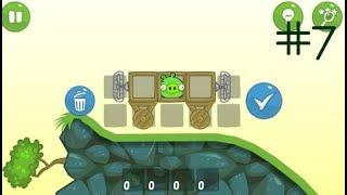 ЭНГРИ БЕРДЗ Злые свинки Angry Birds Bad Piggies 7 уровень ТАРАНТАС С 2-мя ВЕРТУШКАМИ