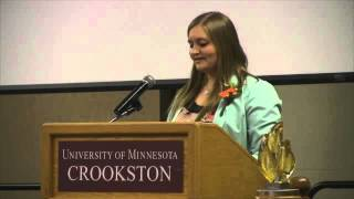 University of Minnesota Crookston Student Mikala Guidinger Speaks at Torch & Shield