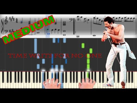 Freddie Mercury (Queen) - Time Waits For No One   Sheet Music & Synthesia Piano Tutorial