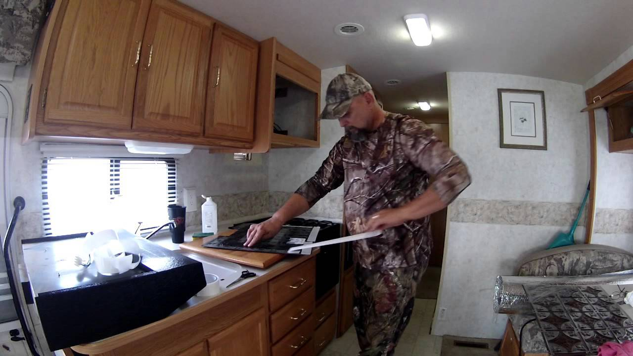 Nomadic Native - An easy to install RV kitchen backsplash