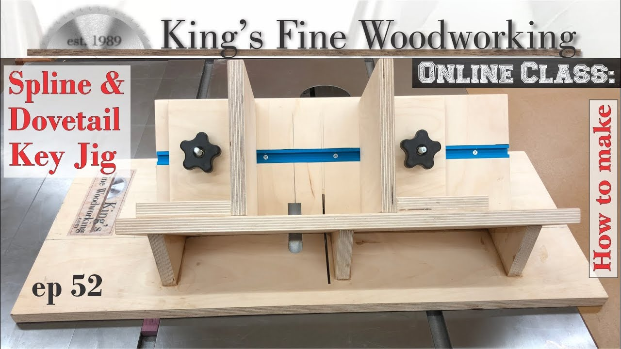 52 miter spline dovetail key jig youtube 52 miter spline dovetail key jig kings fine woodworking greentooth Images