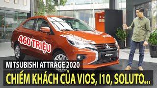 Mitsubishi Attrage 2020 giá từ 375 triệu - Sẽ chiếm khách của Vios, i10, Soluto... | TIPCAR TV