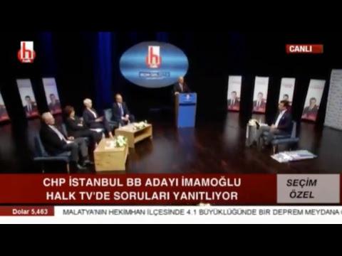 Halk TV Canlı Yayını - Ekrem İmamoğlu