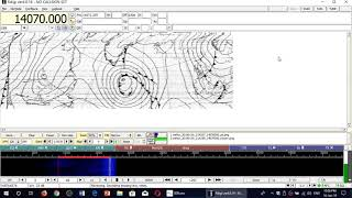 GYA Weather Fax decode from UK 4610 Khz Shortwave FLDIGI and SDRplay RSP1A