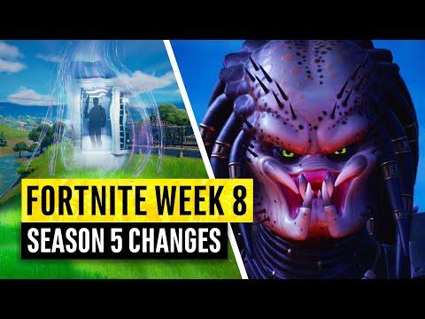 Fortnite   All Season 5 Map Updates and Hidden Secrets! WEEK 8! BigPreds