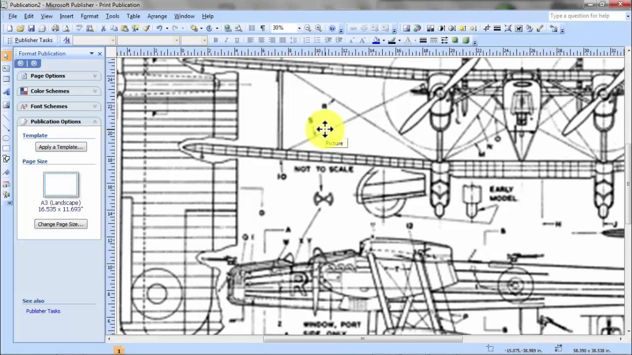 How to enlarge and print 3 view scale plans for model for Free scale drawing software