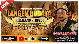 Download lagu LIVE SENI WAYANG KULIT LANGEN BUDAYAKI DALANG H RUSDIPART MALAM EDISI 17 06 2019 MP3