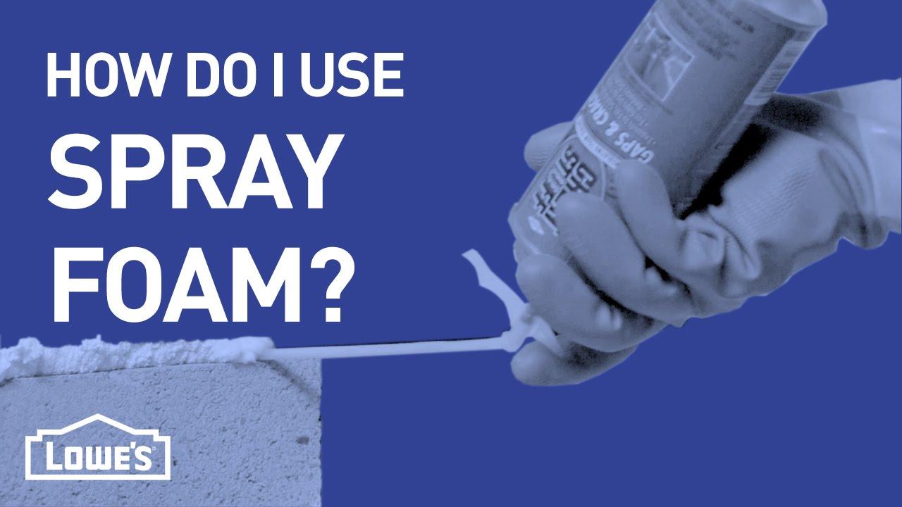 How Do I Use Spray Foam Diy Basics Youtube