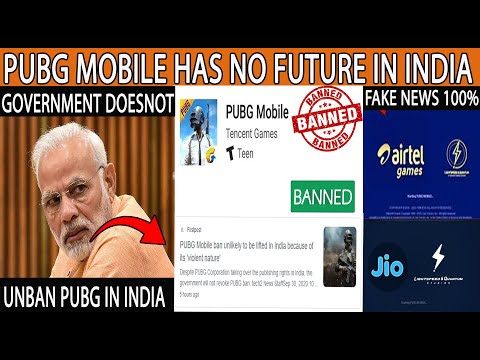 GOVERNMENT DOESNOT UNBAN PUBG IN INDIA/PUBG BAN LATEST UPDATE[100% REAL NEWS]