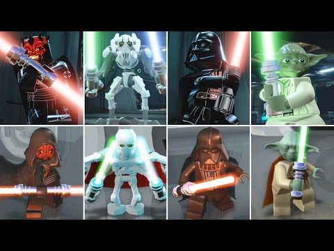 LEGO Star Wars The Force Awakens vs The Complete Saga Characters Evolution (Side by Side)