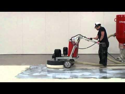 Husqvarna Large Capacity Concrete Floor Grinder Demo