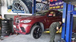 BMW X6, X5, X4, X3, X1 sau 70.000km cần làm gì phần gầm - gara Cường Nguyễn