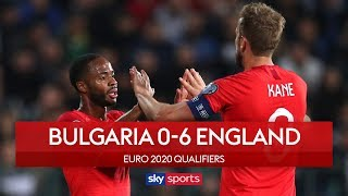 England run riot amidst racist chants | Bulgaria 0-6 England | UEFA Euro 2020 Qualifiers