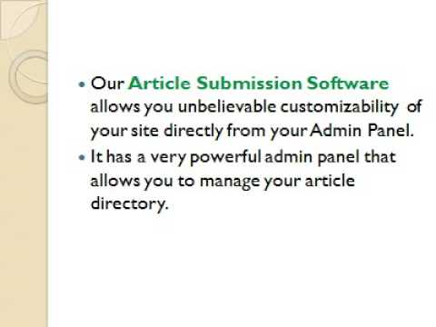 Submit article wordpress article directory script php link directory