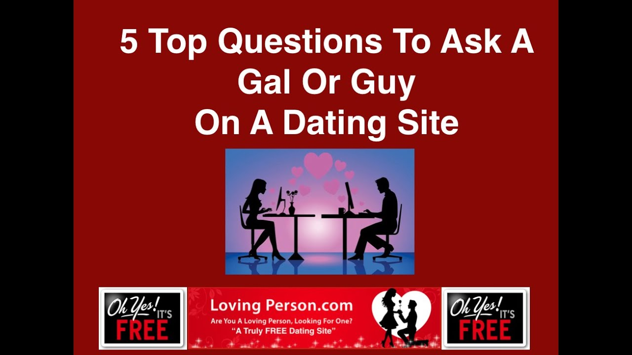 dating site questions Don't know what to ask that hottie on dating apps & sites like tinder, okcupid, match, or bumble here are 10 great questions to ask a girl you like online don't know what to ask that hottie on dating apps & sites like tinder, okcupid, match, or bumble  your questions always have to make sense within the context of your message.