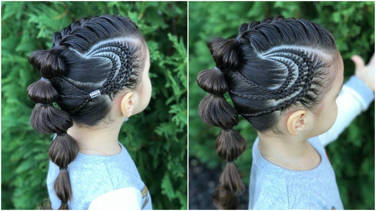Peinado Con Trenzas De Lado Y Coletas Para Ninas Peinados Faciles Y