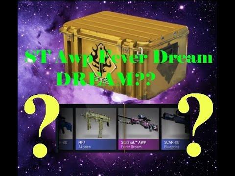 SPECTRUM CASE UNBOXING: Stattrak Awp Fever Dream DREAM!!?