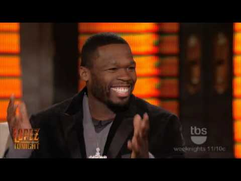 Lopez Tonight - 50 Cent Interview - Tiger Woods