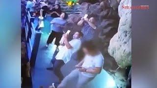 Chinese tourist kicks, destroys 3,000 year-old limestone stalagmite