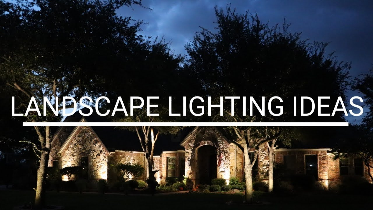 Landscape Lighting Designs Front Yard And Back Yard Outdoor Lighting Ideas Professional Lighting Youtube