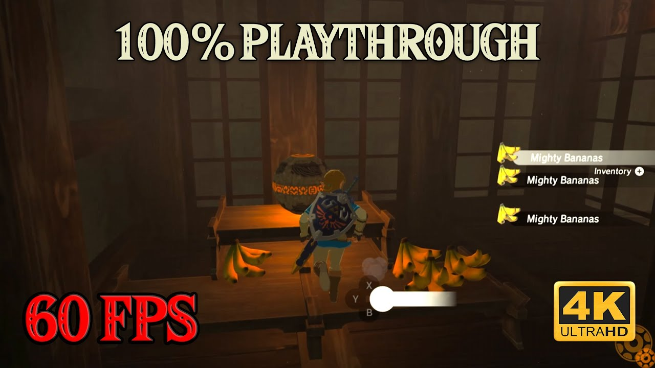 Zelda Breath of the Wild - 100% Playthrough [4K 60FPS CEMU] Part 23 ~ Professional Banana Thief