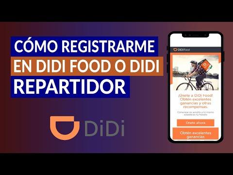 Cómo Registrarme en DIDI Food o DIDI Repartidor y los Requisitos para Hacerse Socio