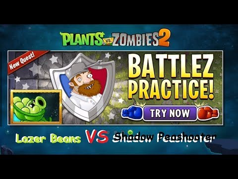 Plants Vs Zombies 2 Sling Peashooter Battlez Practice Room - Laser Bean vs Shadow Peashooter