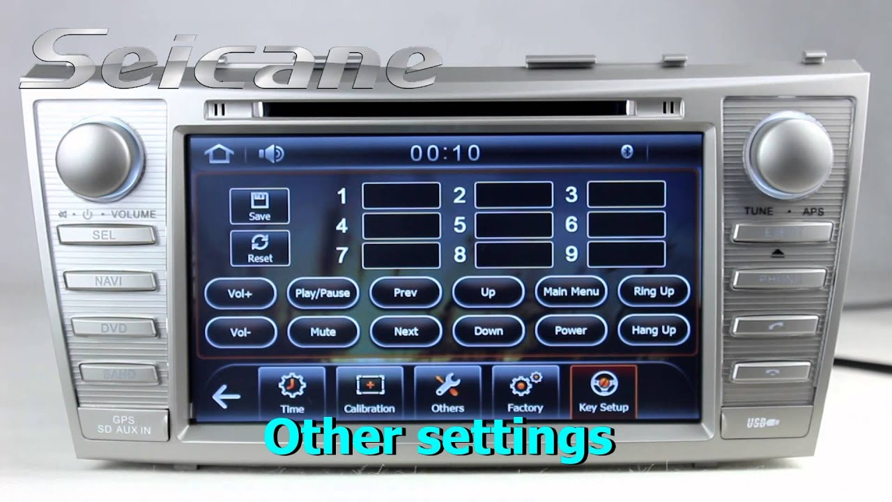 7 inch 2008 2011 toyota camry car stereo head unit with cd dvd player 3d map. Black Bedroom Furniture Sets. Home Design Ideas