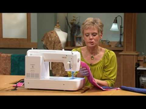 Create The Look Of Hand Stitching Using A Machine YouTube Delectable Hand Stitch Look Sewing Machine