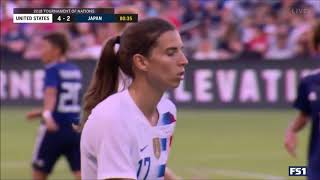 Tobin Heath vs Japan 7/26/18 Every Touch